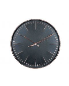 Tristan Copper & Black Round Wall Clock