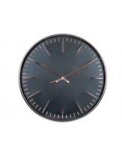 Tristan Copper & Black Round Wall Clock