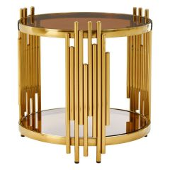 Tusca Round Tubular Base Side Table