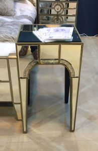 Vintage Mirrored Morocco End Table