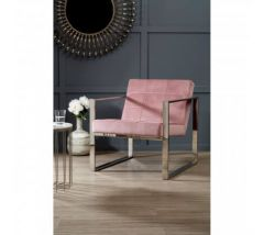 Vogue Pink Velvet Day Chair