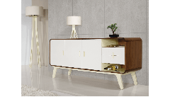 Walnut and White Sideboard Arcus