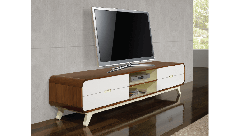 Walnut and White TV Unit Arcus