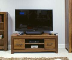 Walnut Low Widescreen Television Cabinet