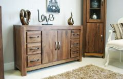 Walnut Six Drawer Sideboard