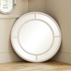 Washed White Segmented Wall Mirror