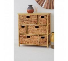 Water Hyacinth 6 Basket Storage Unit