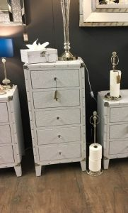 White Bianco Tallboy Chest