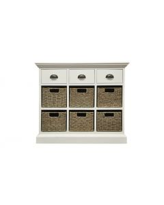 William Wicker 3 Drawer 6 Basket Unit
