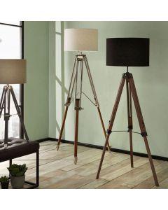 Windsor Wooden Tripod Floor Lamp - Base Only