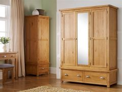 Woburn Oak Triple Wardrobe