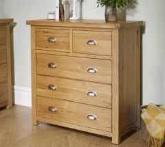 Woburn Oak 5 Drawer Chest