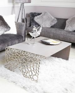 Wood and Nickel Cluster Coffee Table