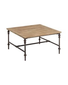 Industrial Fir Wood Square Table