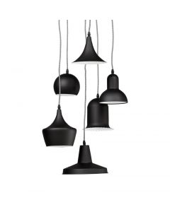 Pengo Six Black Ceiling Lamps