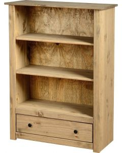 Albeto Wax 1 Drawer Bookcase
