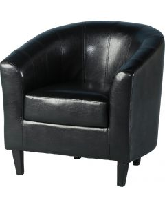 Leo Black PU Tub Chair
