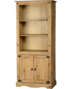 Pine 2 Door Display Unit and Bookcase