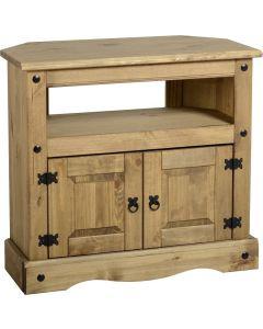 Corona Studded Pine Corner TV Cabinet