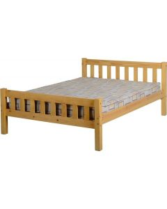 Antique Pine Double Bed Frame