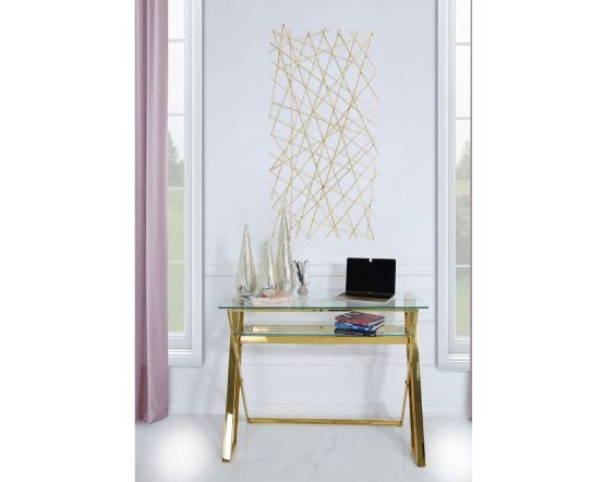 128cm Tall Metal Gold and Silver Wall Art