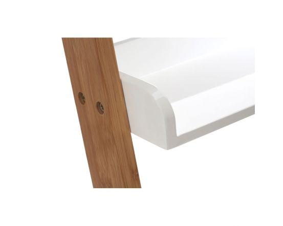 Scandinavian Inspired Bamboo Ladder Shelving