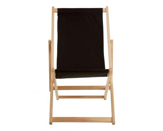 Angelina Black Deck Chair