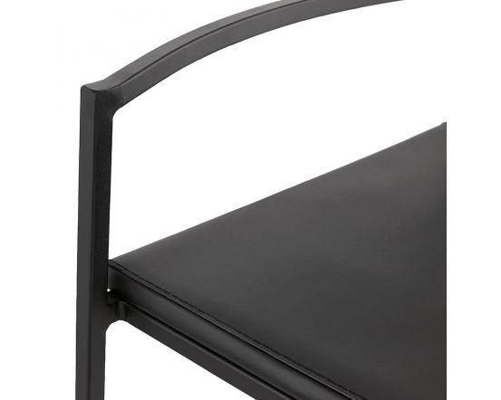 Adeline Metal Slim Black Bar Stool