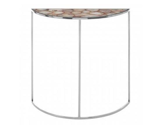 Agate Half Moon Console Table