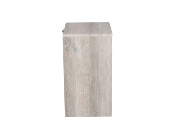 Alivia Grey and Marble Effect 3 Drawer Bedside Chest