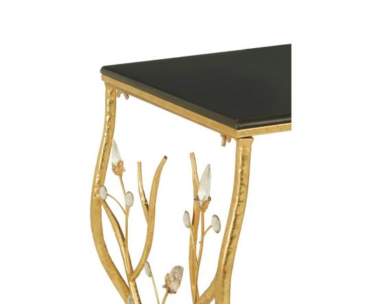 Andrea Rectangular Console Table With Black Top