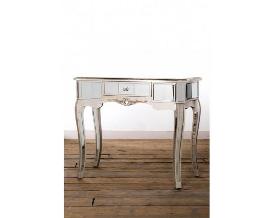 Antonia Shabby Champagne Silver Mirrored Console/Dressing Table