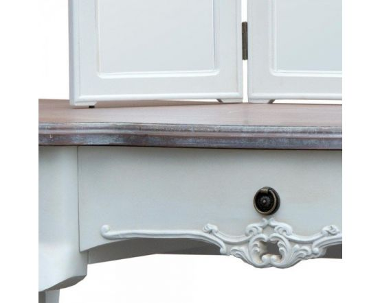 Appleby Shabby White Dressing Table Mirror