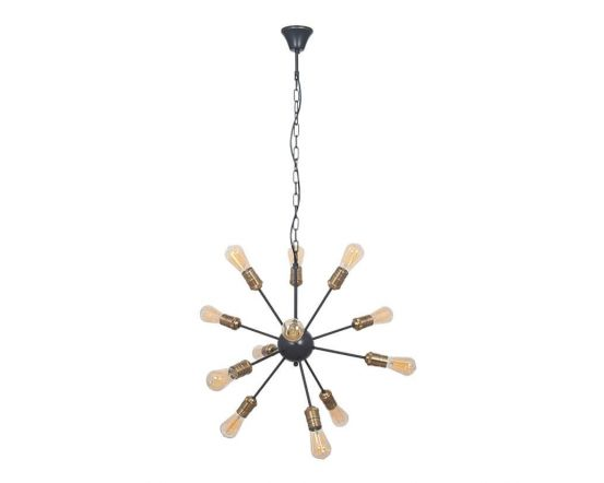 Aquila Black Brass 12 Light Pendant