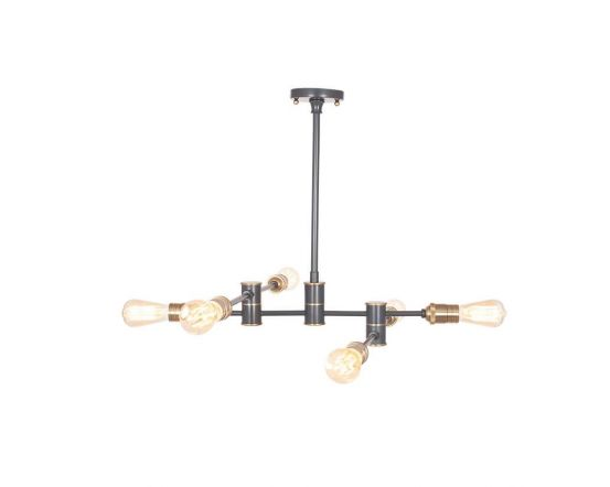 Aquila Black Brass 6 Light Pendant