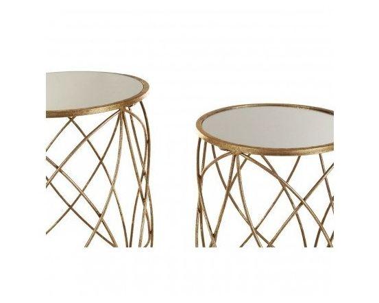 Arcana Gold Glitzy Side Tables