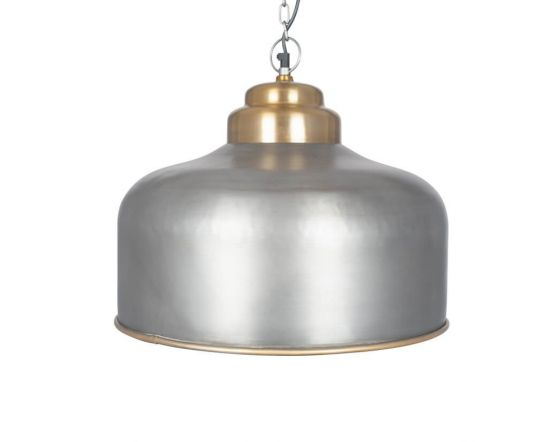 Artisan Pewter and Gold Pendant