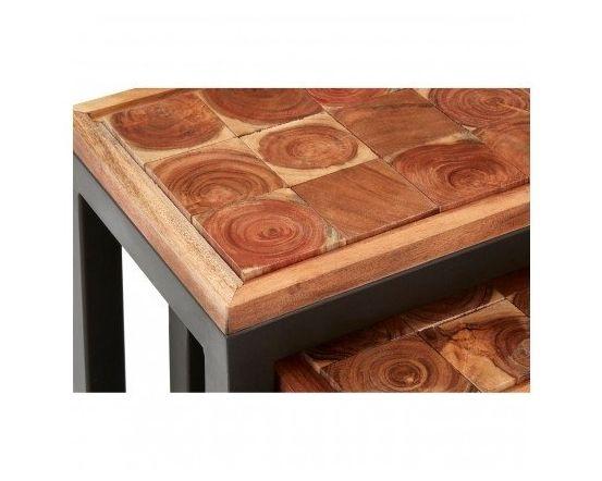 Artisan Acacia Nest of Tables