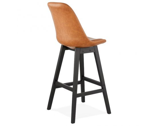 Astrad Tan Brown and Black Bar Chair