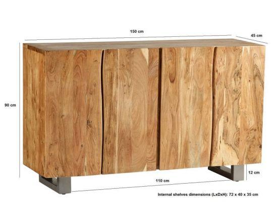 Baltic Mango Wood Large 4 Door Sideboard