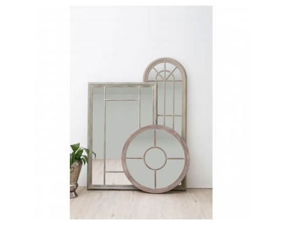 Beach Style Round Wall Mirror