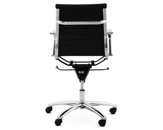 Berit Black Faux Leather Versatile Office Chair