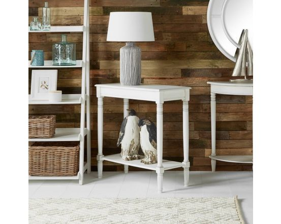 Beth Rustic White Pine Console Table