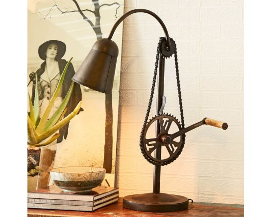 Bicycle Chain Style Table Lamp