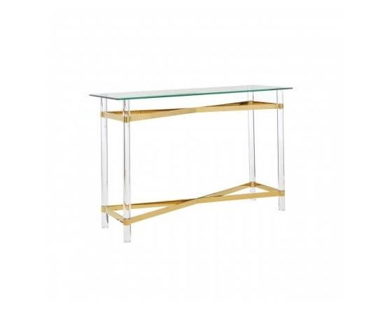 Bianco Glass Top Console Table