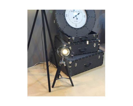 Black LA Directors Table Lamp