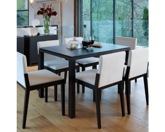 Black Stained Retro Small Dining Table