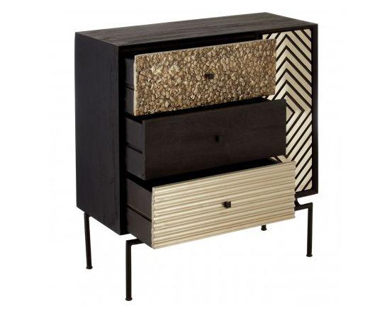 Bovo Mango Wood 3 Drawer Cabinet