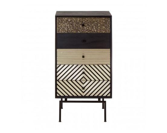 Bovo Mango Wood 5 Drawer Cabinet