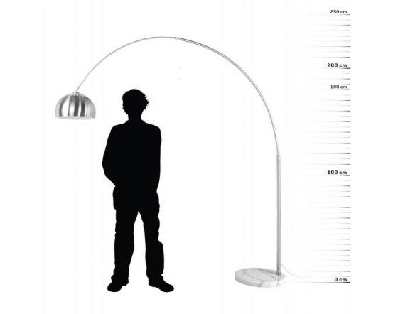 Brushed Steel Arc Floor Lamp